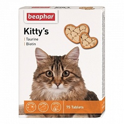 Витамины для кошек Beaphar (Беафар) Kitty's + Taurin + Biotin кормовая добавка с таурином и биотином